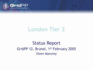 London Tier 2