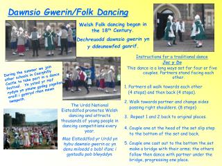 Dawnsio Gwerin/Folk Dancing