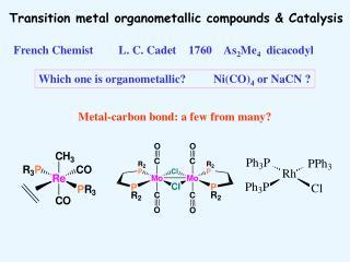 Transition metal organometallic compounds & Catalysis