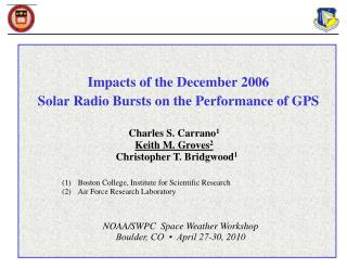 Impacts of the December 2006  Solar Radio Bursts on the Performance of GPS