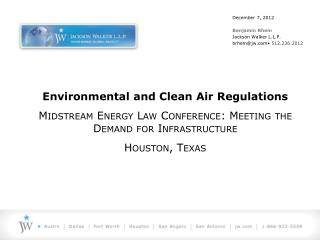 Environmental and Clean Air Regulations