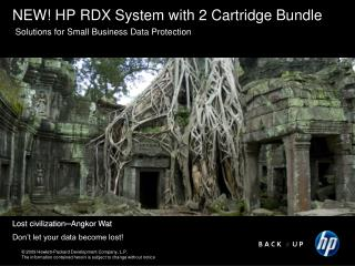 NEW!  HP RDX System with 2 Cartridge Bundle