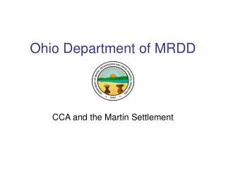 Ohio Department of MRDD