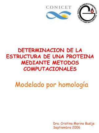 DETERMINACION DE LA ESTRUCTURA DE UNA PROTEINA  MEDIANTE METODOS COMPUTACIONALES