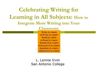 L. Lennie Irvin  San Antonio College