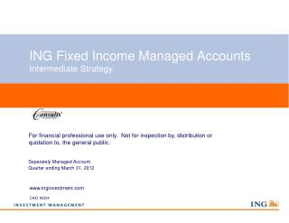 ING Fixed Income Managed Accounts Intermediate Strategy