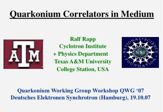 Quarkonium Correlators in Medium