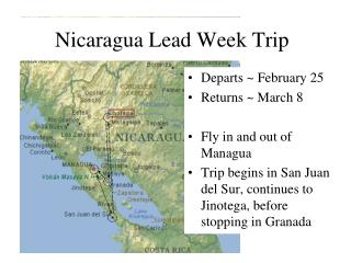 Nicaragua Lead Week Trip
