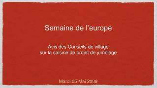 Semaine de l'europe