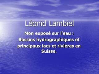 Léonid Lambiel