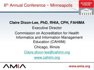 6 th  Annual Conference ~ Minneapolis