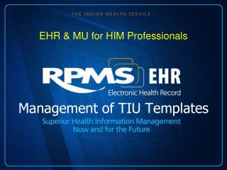 Management of TIU Templates