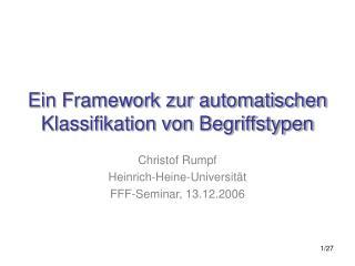 Ein Framework zur automatischen Klassifikation von Begriffstypen