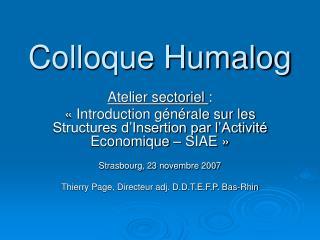 Colloque Humalog