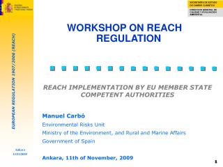REACH IMPLEMENTATION BY EU MEMBER STATE COMPETENT AUTHORITIES