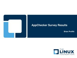 AppChecker Survey Results