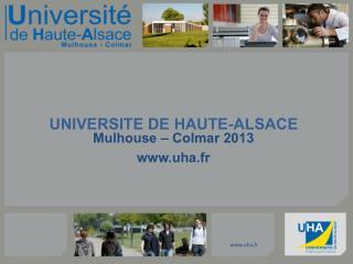 UNIVERSITE DE HAUTE-ALSACE