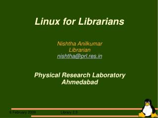 Linux for Librarians