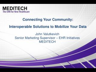 Connecting Your Community: Interoperable Solutions to Mobilize Your Data