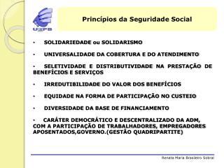Princ�pios da Seguridade Social