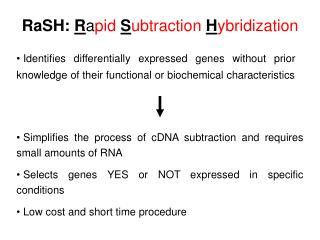 RaSH: R a pid  S ubtraction  H ybridization