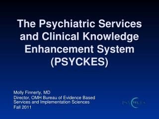 The Psychiatric Services and Clinical Knowledge Enhancement System (PSYCKES)