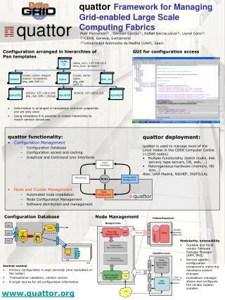 quattor Framework for Managing Grid-enabled Large Scale Computing Fabrics