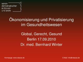 Ökonomisierung und Privatisierung im Gesundheitswesen