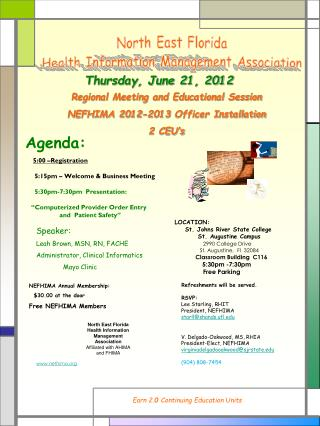 North East Florida Health Information Management Association