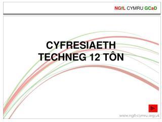 CYFRESIAETH  TECHNEG 12 TÔN