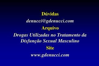Dúvidas  denucci@ gdenucci  Arquivo
