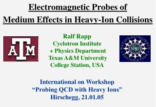 Electromagnetic Probes of  Medium Effects in Heavy-Ion Collisions