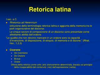 Retorica latina