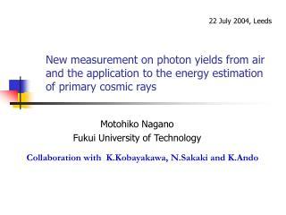 Motohiko Nagano Fukui University of Technology