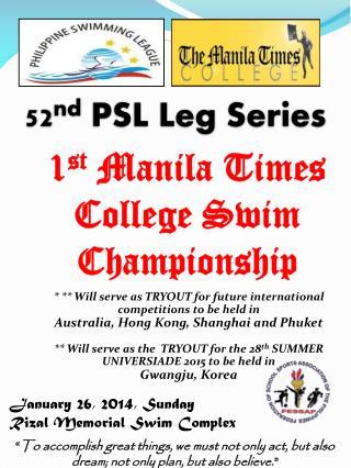 January 26, 2014, Sunday Rizal Memorial Swim Complex