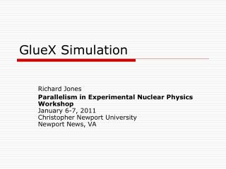 GlueX Simulation