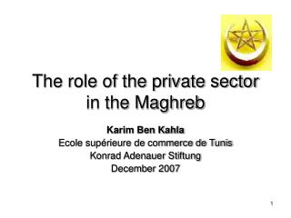 The role of the private sector in the Maghreb
