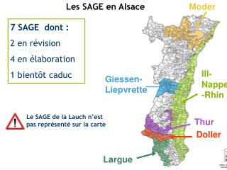 Les SAGE en Alsace