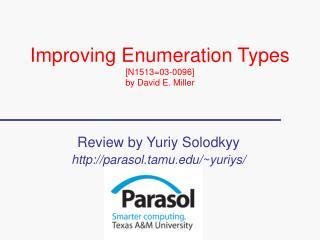 Improving Enumeration Types