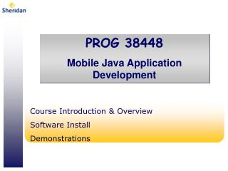 Course Introduction & Overview Software Install Demonstrations