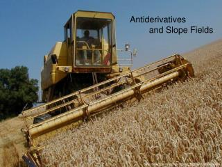 Antiderivatives         and Slope Fields