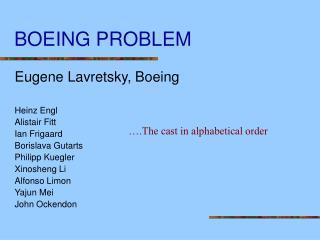 BOEING PROBLEM