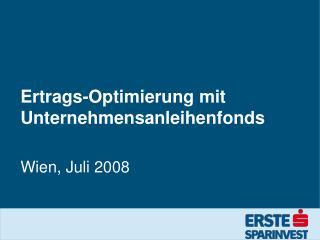 Ertrags-Optimierung mit Unternehmensanleihenfonds