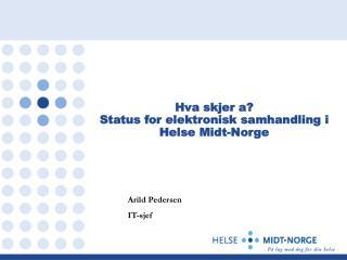 Hva skjer a?  Status for elektronisk samhandling i Helse Midt-Norge
