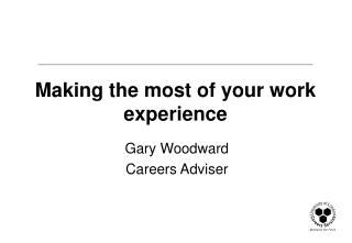 Making the most of your work experience