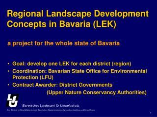 Regional Landscape Development Concepts in Bavaria (LEK)