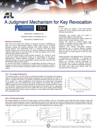 A Judgment Mechanism for Key Revocation