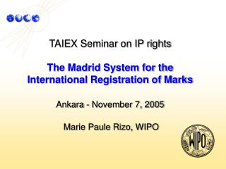 Overview of the       Madrid System
