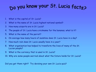 Do you know your St. Lucia facts?