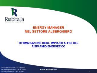 ENERGY MANAGER NEL SETTORE ALBERGHIERO